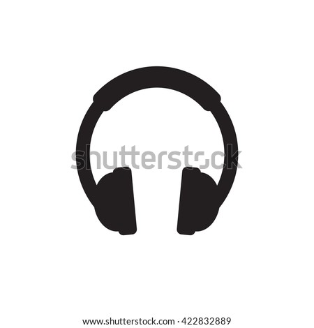 Headphone icon vector, listening to music concept, audio jack sign Isolated on white background. Trendy Flat style for graphic design, logo, Web site, social media, UI, mobile app, EPS10