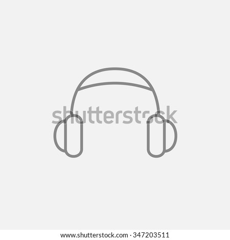 headphone line icon for web