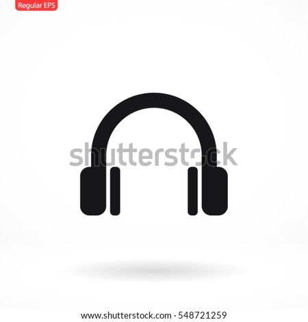 headphone . line vector icon