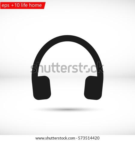 headphone . line vector icon