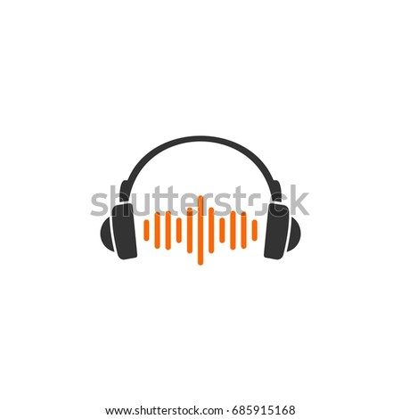Headphone Logo Template