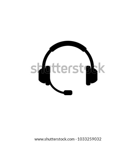 Headphone silhouette icon vector illustration.
