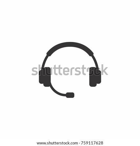 Headphone silhouette vector.