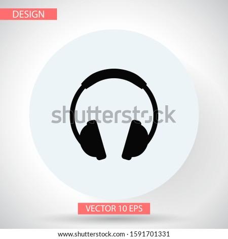 headphone vector icon, headphone vector icon, in trendy flat style isolated on white background. headphone vector icon image, headphone vector icon illustration