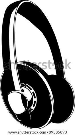 Headphones - stock vector