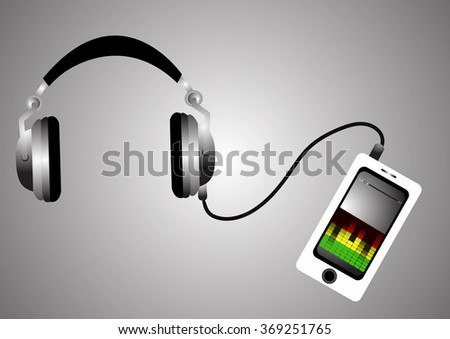 headphones and mobile phone