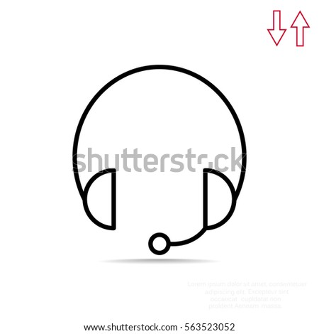Headphones icon Flat.