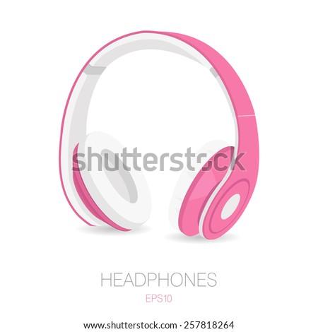 headphones icon in realistic