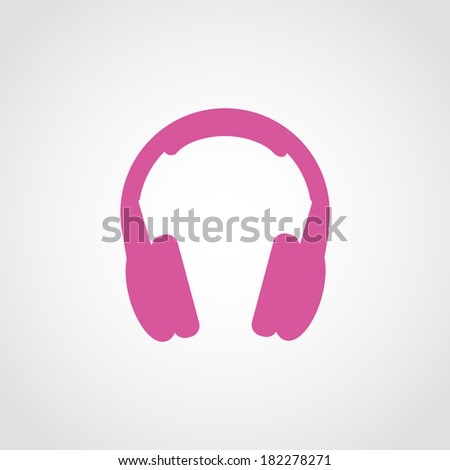 Headphones Icon Isolated on White Background