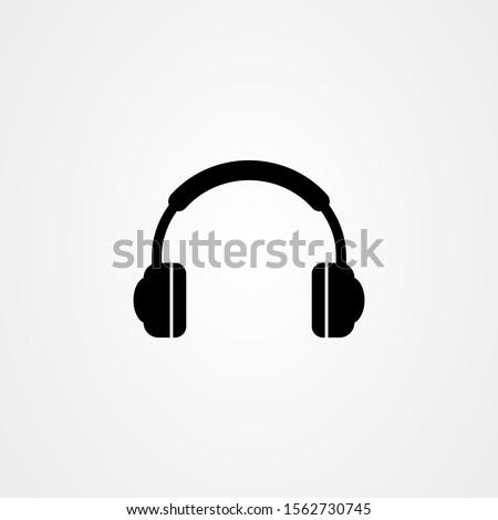 headphones icon logo vector