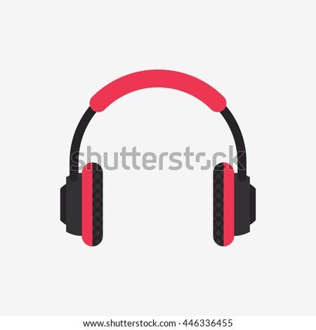 headphones icon  music vector