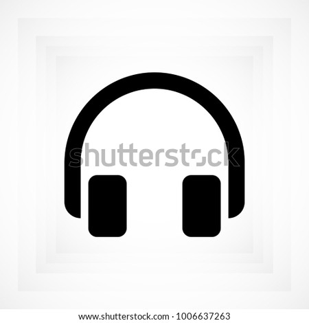 headphones icon, stock vector illustration flat design style
