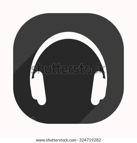 Headphones. Musical accessory. icon. vector design
