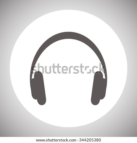 Headphones. Musical accessory. icon. vector design