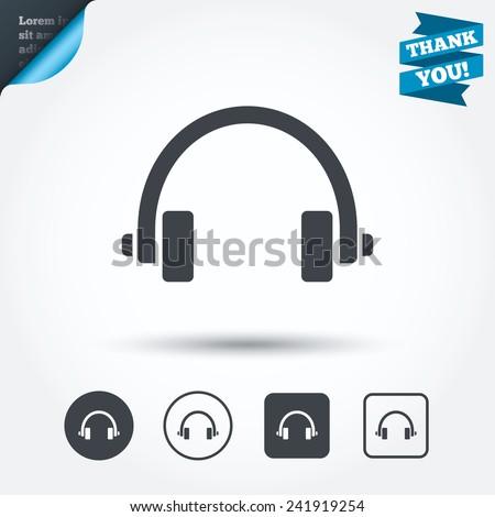 headphones sign icon earphones