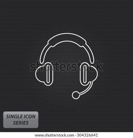 headphones   single icon series