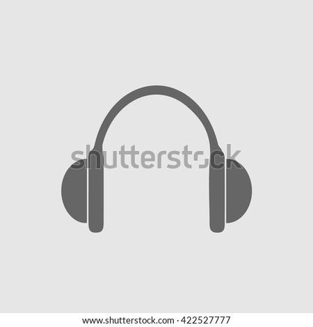 Headphones vector icon. Earphones. Earphones vector. Earphones icon. Earphones simple isolated sign symbol. Music symbol.