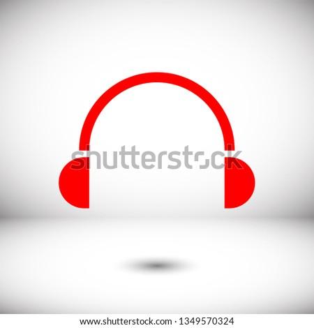 headphones vector icon on