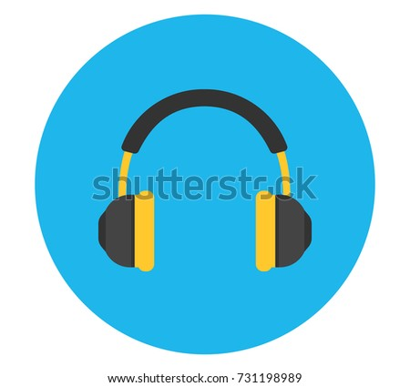 headphones vector icon vector