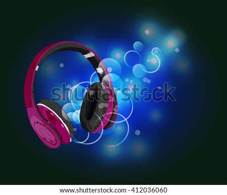 headphones with magic of music