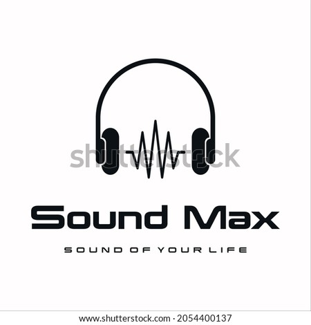 headphones with music wave