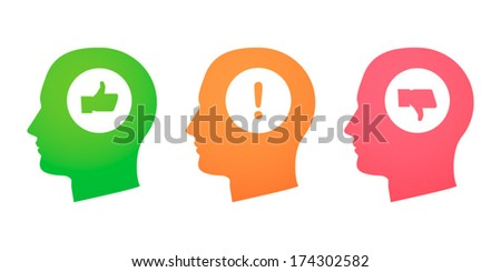 Heads with survey icons