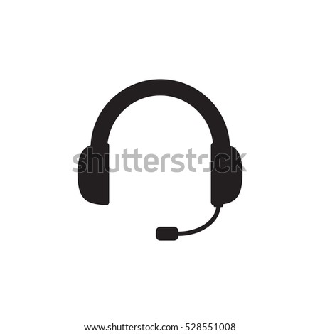 Headset icon vector isolated