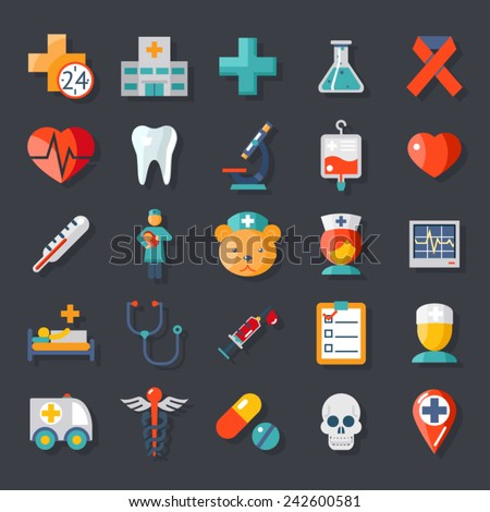 health and medical care icons