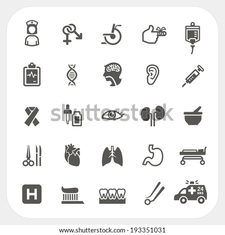 health and medical icons set