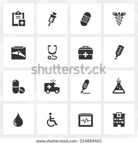 Health care and medical vector icons. File format is EPS8.