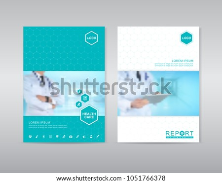 health care cover template design for a report and medical brochure design, flyer, leaflets decoration for printing and presentation vector illustration #1051766378