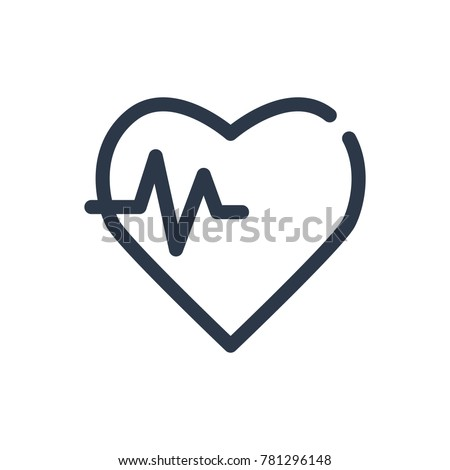 Health care icon. Isolated heart pulse and health care icon line style. Premium quality vector symbol drawing concept for your logo web mobile app UI design.
