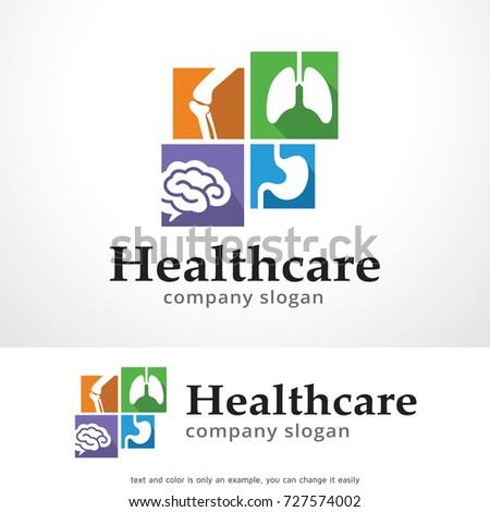 Health Care Logo Template Design Vector, Emblem, Design Concept, Creative Symbol, Icon