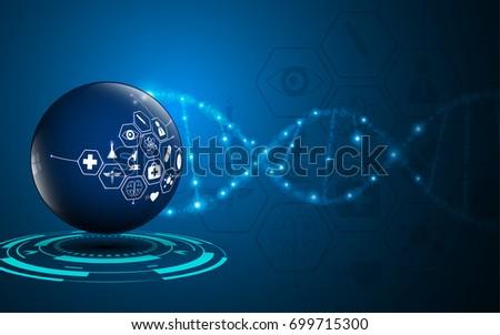 health care medical scientific innovative concept background