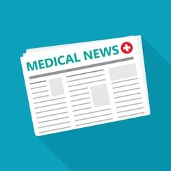 health care newspaper icon- vector illustration