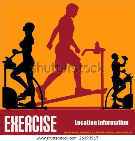 Health Club/Gymnasium Exercising Vector Flyer