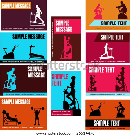 Health/Exercise Business Card Vector Templates
