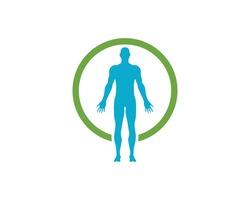 Health Human anatomy of man  logo icon vector illustration