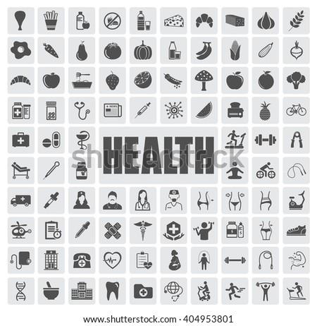 health icons set