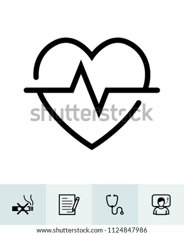 Health icons with White Background