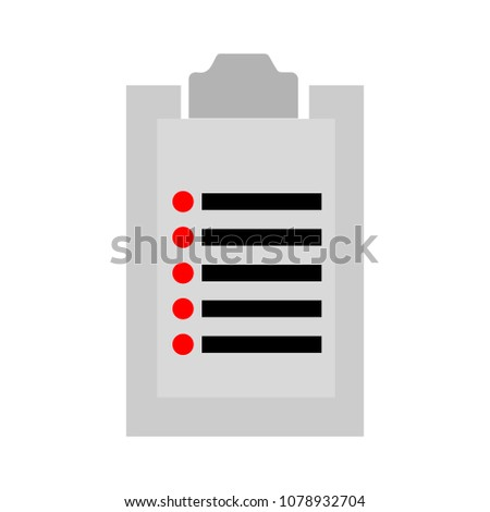 Health insurance form. Vector illustration document: clinical record, prescription, medical check marks report