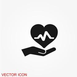Health insurance icon vector
