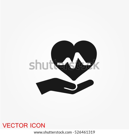 Health insurance icon vector