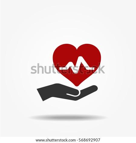Health insurance icon, vector symbol