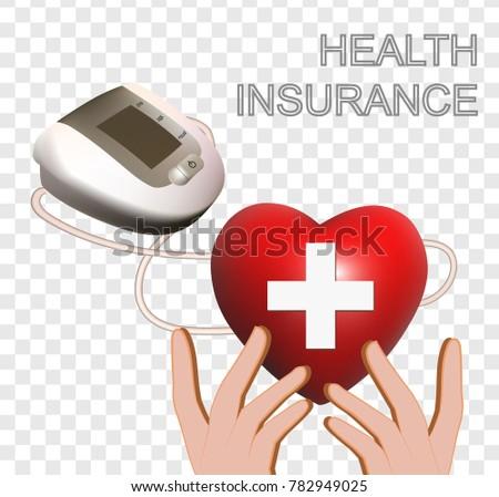 Health insurance isolated vector #782949025