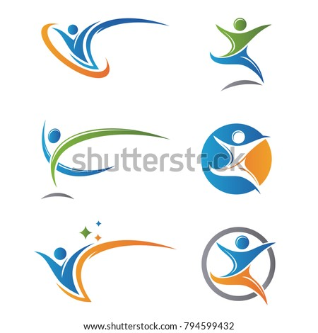 Health Logo Care People