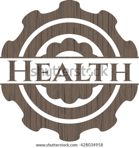 Health retro wood emblem