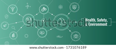 Health Safety and Environment Icon Set and Web Header Banner Сток-фото ©