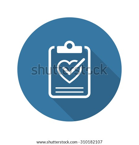 Health Tests and Medical Services Icon. Flat Design. Isolated. Long Shadow.