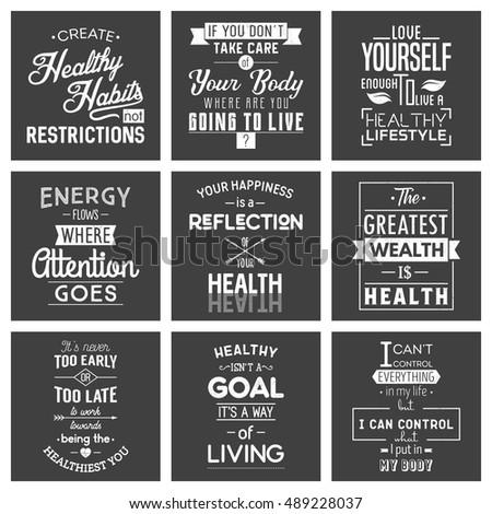Health. Typography quotes.